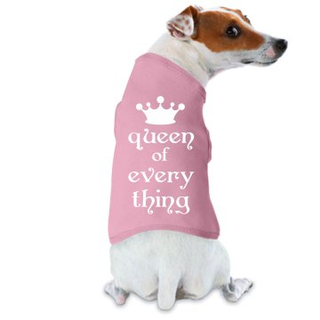 Queen Of The Dogs Doggie Skins Dog Ringer Tee