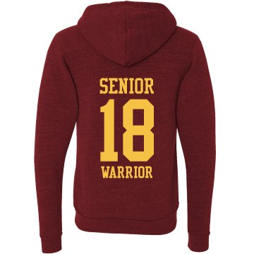 Senior Hoodie Unisex Canvas Triblend Zip Hoodie