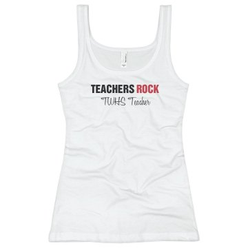 Teachers Rock Junior Fit Basic Bella 2x1 Rib Tank Top