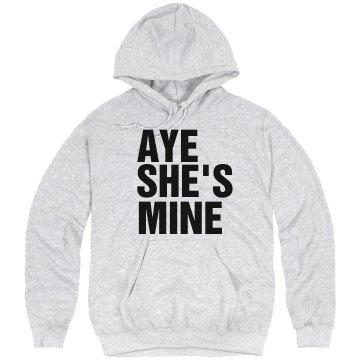 Aye She's Mine Unisex Hanes Ultimate Cotton Heavyweight Hoodie