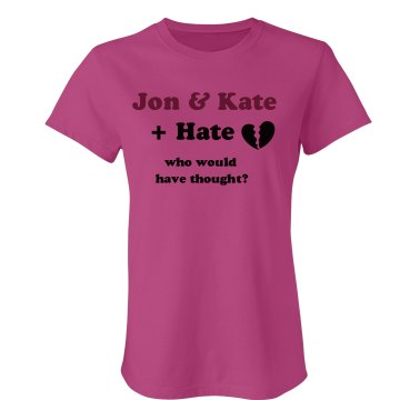 Jon &amp; Kate + Hate Junior Fit Bella Sheer Longer Length Rib Tee