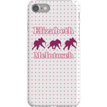 Pink Elephant iPhone Case Plastic iPhone 5 Case White