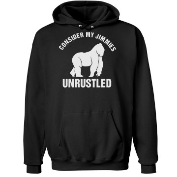 Unrustled Jimmies Unisex Gildan Heavy Blend Hoodie