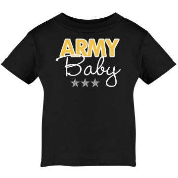 Army Baby Infant Tee Infant Rabbit Skins Lap Shoulder Tee