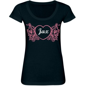 Personalized Love Junior Fit Bella Sheer Longer Length Scoopneck Tee