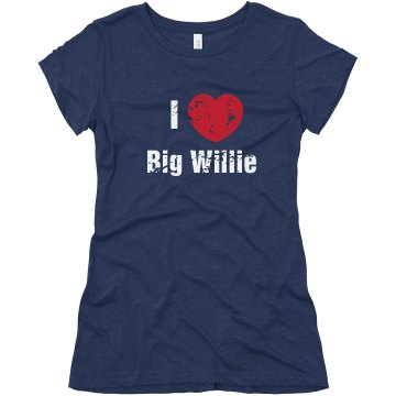 Love Big Willie Junior Fit Bella Triblend Tee