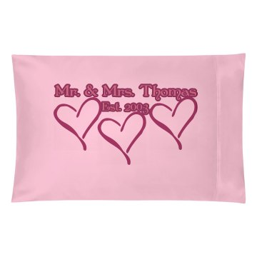 Mr & Mrs Pillow Pillowcase