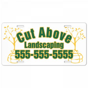 Landscaping Plate Ad License Plate