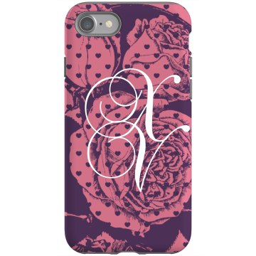 Quinceanera Roses Rubber iPhone 4 & 4S Case Black