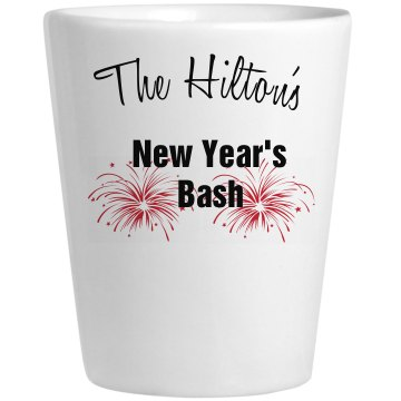 New Year's Bash Ceramic Shotglass