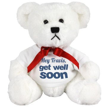 Get Well Soon Message Medium Plush Teddy Bear