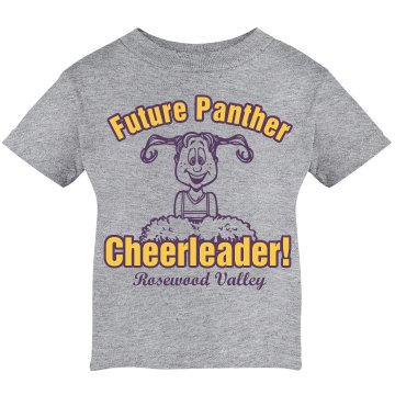 Lil' Future Cheerleader Infant Rabbit Skins Cotton Tee