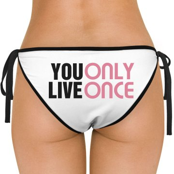 YOLO Bikini Bottom American Apparel Nylon Tricot Side-Tie Bikini Swimsuit Bottom