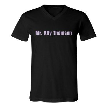 Mr. Ally Thompson Unisex Canvas V-Neck Jersey Tee