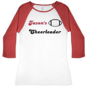 Jason's Cheerleader Junior Fit Bella 1x1 Rib 3/4 Sleeve Raglan Tee