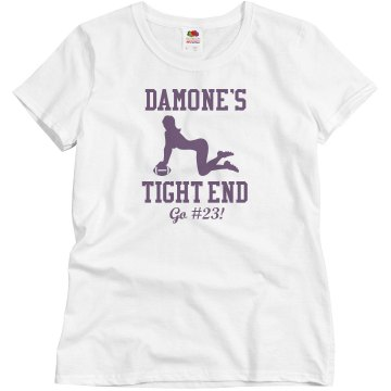 Damone&#x27;s Tight End Junior Fit Brightline 3&#x2F;4 Sleeve Jersey Tee