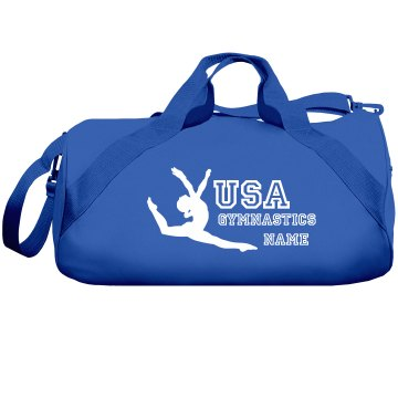 USA Gymnastics bag Liberty Bags Barrel Duffel Bag
