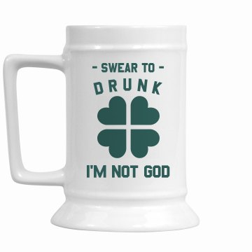 Swear To Drunk 16oz Ceramic Stein