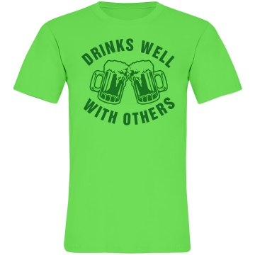 St. Patrick&#x27;s Day Neon Unisex American Apparel Neon Crew Neck Tee