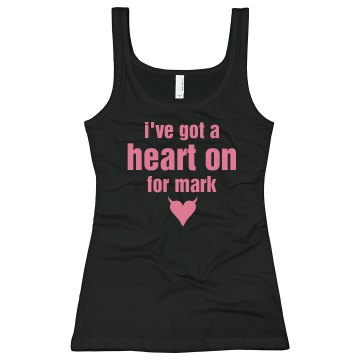 I&#x27;ve Got A Heart On... Junior Fit Bella Sheer Longer Length Rib Tank Top