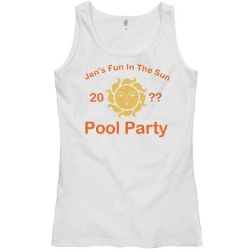 Pool Party Fun Junior Fit Bella Sheer Longer Length Rib Tank Top