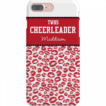 Custom Cheer iPhone Case Plastic iPhone 5 Case Black