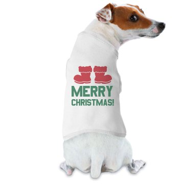 Doggie Claus Dog Tee Doggie Skins Dog Hoodie Tee