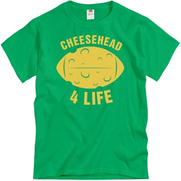 Cheesehead 4 Life Unisex Gildan Heavy Cotton Crew Neck Tee