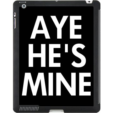 Aye He's Mine Deluxe iPad Black iPad Smart Cover