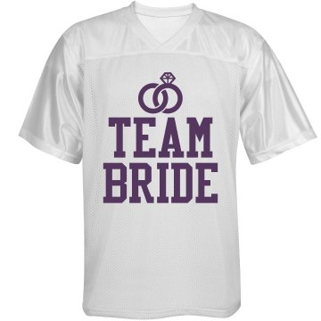 Team Bride Unisex Augusta Replica Football Jersey