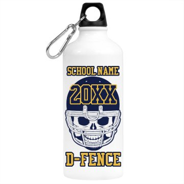 School Football Bottle Aluminum Water Bottle