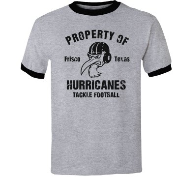 Property of Hurricanes Unisex Anvil Ringer Tee
