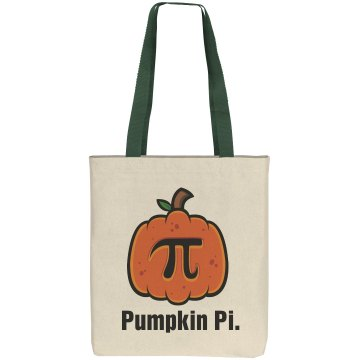 Pumpkin Pi Bag Liberty Bags Cotton Canvas Tote