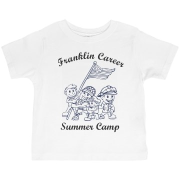 Summer Camp w/ Back Toddler Basic Gildan Ultra Cotton Crew Neck Tee