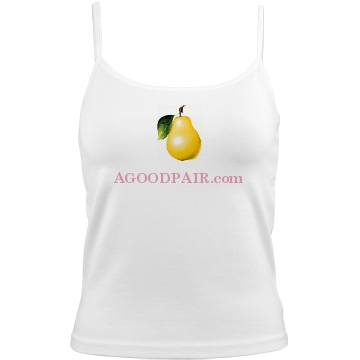 A Good Pair 00600A Bella White Basic Junior Fit Camisole
