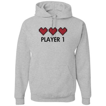 Player 1 Unisex Hanes Ultimate Cotton Heavyweight Hoodie