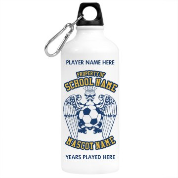 Property of Soccer Aluminum Water Bottle