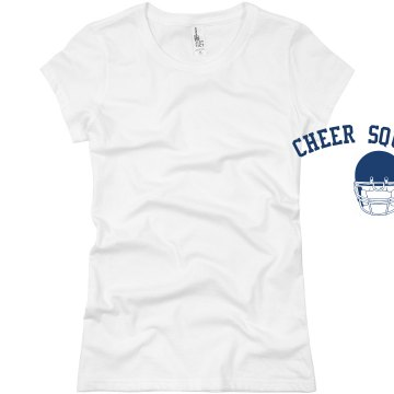 Football Cheer w/ Back Junior Fit Basic Bella Favorite Tee