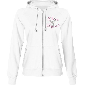 Cheer Squad w/ Back Junior Fit Bella Fleece Raglan Zip Hoodie