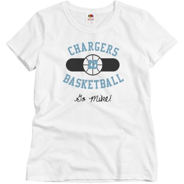 Basketball Fan Junior Fit Brightline 3/4 Sleeve Jersey Tee