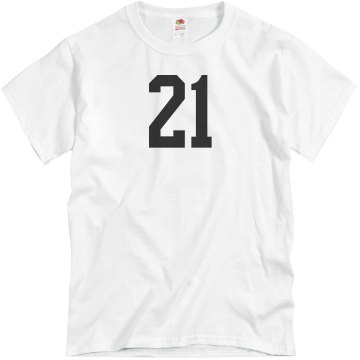 21st Birthday Tee Unisex Basic Gildan Heavy Cotton Crew Neck Tee