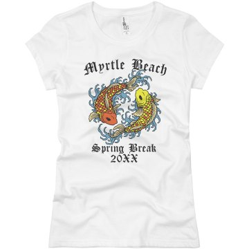 Myrtle Beach Spring Break Junior Fit Basic Bella Favorite Tee