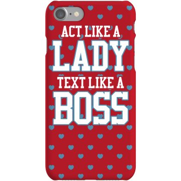 Text Like A Boss Rubber iPhone 4 & 4S Case White