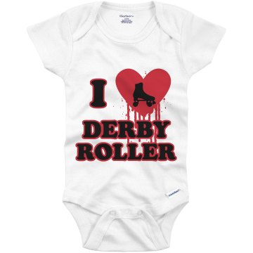 I Love Roller Derby Infant Gerber Onesies