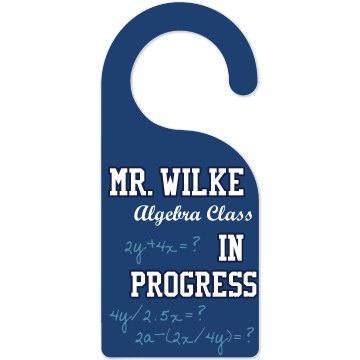 Teacher Door Hanger Door Knob Hanger