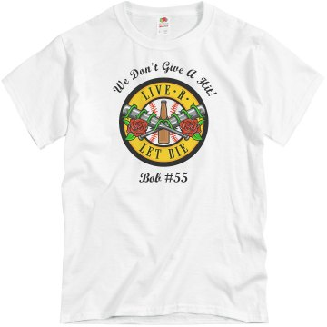 Don't Give A Hit Softball Unisex Basic Gildan Heavy Cotton Crew Neck Tee