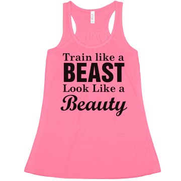 Train Like A Beast Misses American Apparel Neon Oversized Crop Tank