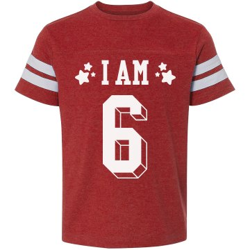 I Am 6 Birthday Youth Bella Girl Sheer 2-in-1 Baby Jersey Tee