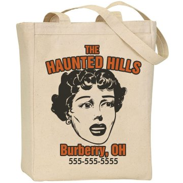 Halloween Haunted Hills Liberty Bags Canvas Tote