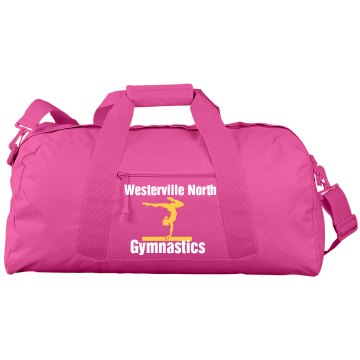 Westerville Gymnastics Port & Company Large Square Duffel Bag